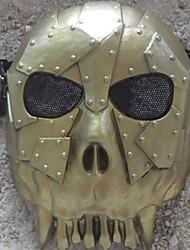 Недорогие -пустыня корпус скелет маски на все лицо для Хэллоуина партии (золото&серебро&красный&бронза) (1 шт)