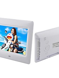 cheap -7-inch  LCD Loop Playback Digital Photo Frame with Remote Control Music Video (White and Black)