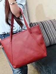 baratos -Mulheres Bolsas Couro Ecológico Tote para Casual Formal Todas as Estações Preto Vermelho Azul