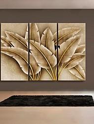 Недорогие -Абстракция / фантазия / ботанический Холст для печати 3 панели Готовы повесить , Вертикальная