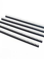 abordables -1 x trou 40pin rangée de prise femelle rangée 2,54 mm trou siège cercle de point (5pcs)