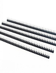 abordables -1 x fila agujero fila de 40 pines enchufe hembra de 2,54 mm agujero asiento círculo puntada (5 x)