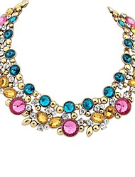 Women's EU&US Layers Beaded Cluster Noble Bib Statement Necklace