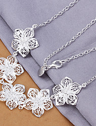 Women's Pendant Necklaces Sterling Silver Silver Plated Fashion Costume Jewelry Jewelry For Special Occasion Birthday Gift