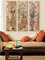cheap -Stretched Canvas Print Still Life Vintage Three Panels Vertical Print Wall Decor Home Decoration