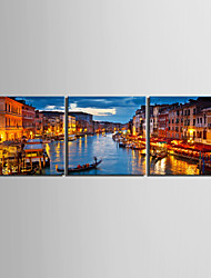 cheap -Stretched Canvas Print Canvas Set Landscape Modern,Three Panels Canvas Horizontal Print Wall Decor For Home Decoration