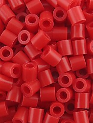 Approx 500PCS/Bag 5MM Red Fuse Beads Hama Beads DIY Jigsaw EVA Material Safty for Kids Craft