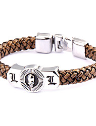 cheap -Jewelry Inspired by Death Note L.Lawliet Anime Cosplay Accessories Bracelet Brown / Silver Alloy / PU Leather Male