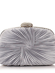 cheap -Women's Bags Polyester Evening Bag Crystal/ Rhinestone for Event/Party All Seasons White Black Silver Purple Blue
