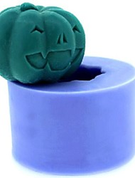 cheap -Halloween Pumpkin Fondant Cake Chocolate Candle Silicone Mold,L4.3cm*W4.3cm*H3.3cm