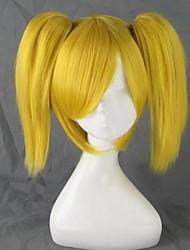 Parrucche Cosplay Vocaloid Kagamine Rin Oro Corto Anime Parrucche Cosplay 35 CM Tessuno resistente a calore Donna