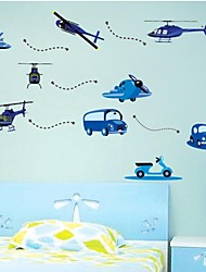 cheap -Wall Stickers Wall Decals, Children Airplane Auto Kidsroom PVC Home Decor Wall Stickers