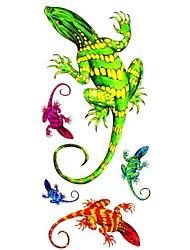 Tatuaggi adesivi - Serie animali Da donna/Girl/Adulto/Teen - #(1) - Modello - di Carta - #(18.5*8.5) - Multicolore - Fantasia/Waterproof