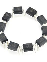 el817 ferro + plástico óptica acopladores / optocouplers - preto (10 peças)