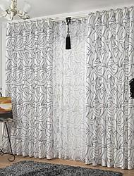 zwei Panele Rustikal / Neoklassisch / Europäisch / Modern Blumen / Pflanzen Bunt Schlafzimmer Polyester Vorhänge drapiert