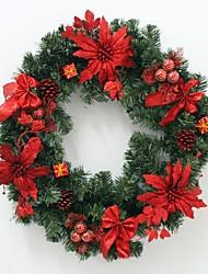 60Cm Red Christmas Wreath