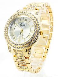 Da donna Orologio elegante Quarzo imitazione diamante Lega Banda Brillanti Di lusso Oro Oro rosa Dorato Oro rosa