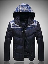 Недорогие -мужская мода хлопка проложенный одежды капот верхняя одежда