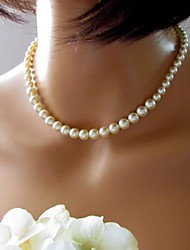 abordables -Women's European Fashion  Imitation Pearls  Necklace (1 Pc)