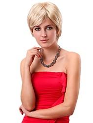 женщины короткие прямые синтетические сторону взрыва бобо париков блондинка с волосами свободной сети