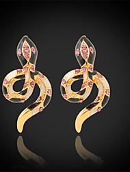 cheap -U7®New Enamel Snake Earrings 18K Real Gold Plated Clear Austrian Rhinestone Stud Jewelry for Women
