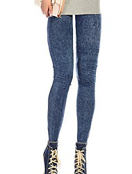 Damer Denim Legging,Bomuldsblandinger Normal