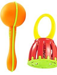 Недорогие -младенца высокого качества музыкальный инструмент сочетание песка молоток и обрабатывать клетку кольцо колокола игрушки развивающие игрушки