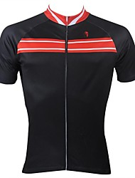 ILPALADINO Cykeltrøje Herre Kortærmet Cykel Trøje Toppe Cykeltøj Hurtigtørrende Ultraviolet Resistent Åndbart Stribe Fritidssport Cykling