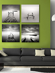 cheap -Stretched Canvas Art Landscape Bridge to the Sea Set of 4