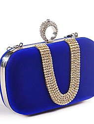 Women Bags Polyester Evening Bag for Wedding Black Fuchsia Red Blue