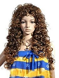 cheap -Cosplay Wig Brown Long Curly Hair Halloween Masquerade Wig Halloween