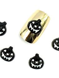 50pcs 3d halloween chiodo progetta zucca nero per le punte del chiodo acrilico decorazioni nail art