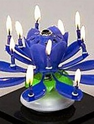 Plastic Spinning Musical Birthday Flower Candle