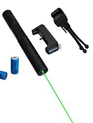 economico -lt-08851 puntatore laser verde (2MW, 532nm, 2x16340, colori assortiti)