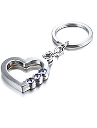 cheap -3D Bling Purple Crystal Mysterious Heart Zinc Alloy Keychain(First 10 Customers With Box Added)
