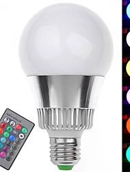 billige -YWXLIGHT® 1pc 7 W 250-300 lm E26 / E27 Smart LED-lampe A19 1 LED Perler Højeffekts-LED Fjernstyret / Dekorativ / Farvegradient RGB 85-265 V / RoHs