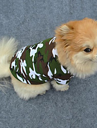 cheap -Dog Shirt / T-Shirt Dog Clothes Fashion Camouflage Green Costume For Pets