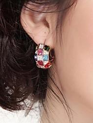 SSZP Women's Fashion Vintage Multi-Color Diamond Earrings & Necklace & Ring Set
