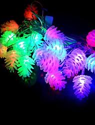 20 привело 4m водонепроницаемый рождественские украшения ананас rgb свет привело строку света (220v)
