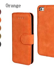 cheap -Scrub PU Leather Full Body Cover with Stand and Card Slot for iPhone 4/4S (Assorted Color)