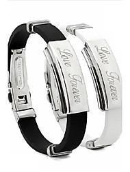 braccialetti ispiratori acciaio inox personalizzato di moda bracciale unisex