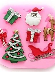 árvore de natal deer claus dom fundante bolo ferramentas molde de bolo, ferramenta de cozimento