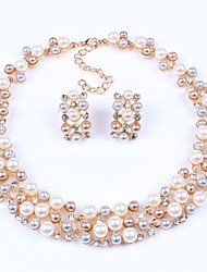 Set di gioielli Da serata Europeo Perla Perle finte Strass Lega Collane Orecchini