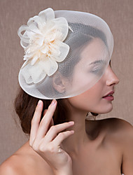 cheap -Crystal / Fabric / Organza Tiaras / Fascinators / Flowers with 1 Wedding / Party / Evening Headpiece / Hats