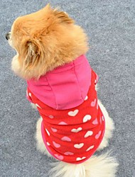 Cat Dog Hoodie Dog Clothes Cute Fashion Hearts Rose Costume For Pets