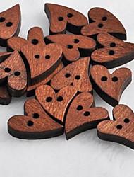 Heart Shaped Scrapbook Scraft Sewing DIY Wooden Buttons(10 PCS)