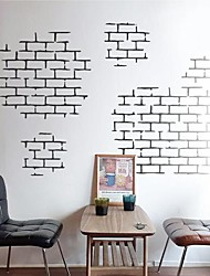 cheap -Wall Stickers Wall Decals,  Modern Brick brick texture characteristics PVC Wall Stickers