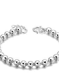 cheap -Women's Sterling Silver Silver Plated Cute Chain Bracelet - Vintage Party Work Circle Silver Bracelet For Christmas Gifts Wedding Party