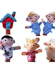 6PCS Mary Had a Little Lamb Plush Finger Puppets Kids Talk Prop