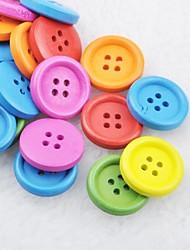 abordables -botones de madera diy soild bloc de notas de color Scraft de coser (10 piezas color al azar)